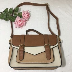 Call It Spring Faux Leather Satchel Crossbody Bag